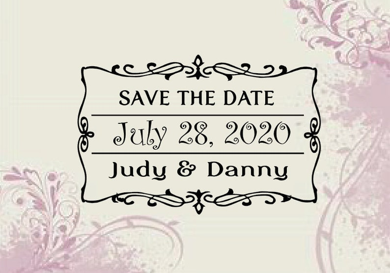 Wedding Favor Save the Date Stamp WI 18 Personalized Vintage Save the date Stamp Custom Self Inking Address Stamp