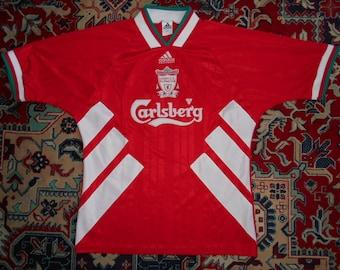 59d17d328df Rare Vintage Liverpool FC 1993 1995 HOME 16 M L 40 42