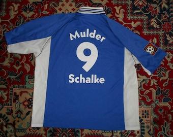 cc7ecd684e6 Vintage Schalke 04 Gelsenkirchen 1998/00 Mulder Adidas 2XL 3XL Home 17 shirt  jersey 04