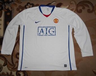 f2c649122 L/S Manchester United NIKE XXL 2008/09 Away 18 shirt jersey Long Sleeve