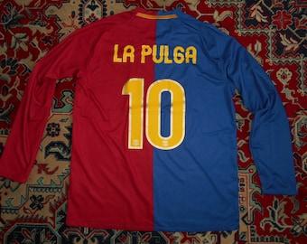 d834952fa30 L/S FC Barcelona 2008/09 La Pulga Home 17 NIKE L shirt jersey Camiseta 08  Messi