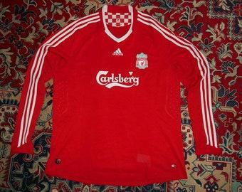 324a1c37a9d L S Rare Liverpool FC 2008 2010 Adidas XXL Home 18 shirt jersey 08 Long  Sleeve