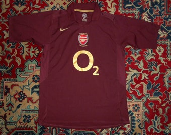 25ff5a2a8 Rare Arsenal 2005 06 Home 21 HIGHBURY NIKE L O2 shirt jersey Farewell 05