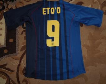 f3b30bd2d04 FC Barcelona 2004/2005 #9 ETO'O NIKE S Away shirt jersey Camiseta 04