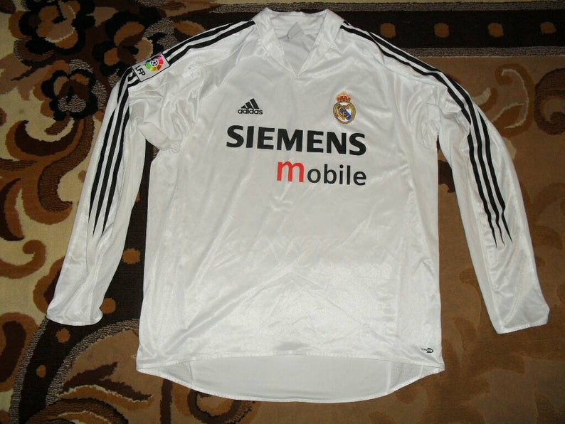 wholesale dealer efe82 02d9e L/S Rare Real Madrid 2004/2005 Aidas L Home 27 shirt jersey Camiseta 04  Long Sleeve