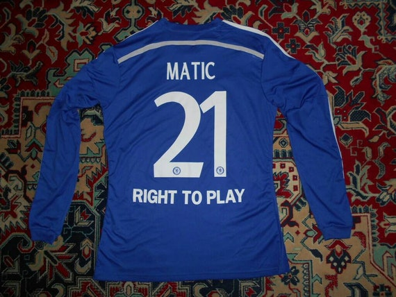 LS Chelsea London 201415 21 Matic Home 29 Adidas L shirt jersey 14 Long Sleeve Champions League