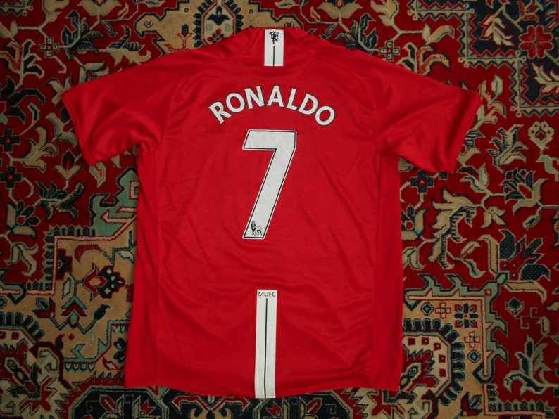 premium selection a317c 894ad Mint Manchester United 200709 #7 RONALDO Home 14 Nike L AIG shirt jersey 07