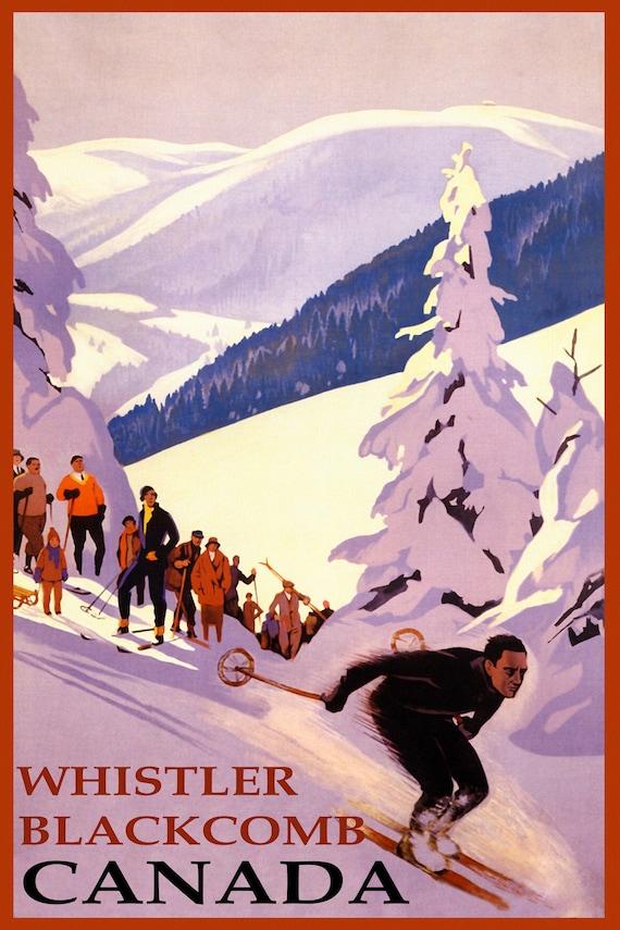 Colorado Lady Ski Skiing Race Winter Sport Vintage Poster Repro FREE S//H