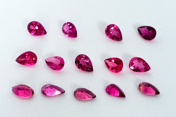Pink Tourmaline Faceted Octagon AAA Quality Tourmaline. Intense Pink Color