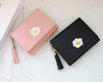 Kawaii Fried Egg Fabric Coin Purse
