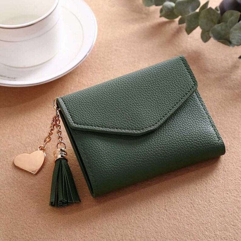 Women/'s Wallet Cute Student Tassel Pendant Short Wallet Trend Small Fashion PU Wallet 2020 Coin Purse Ladies Card Bag For Women