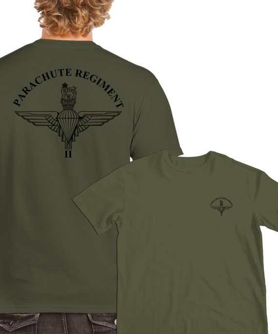 3 PARA 3rd Parachute Regiment Wings Licensed Embroidered T-Shirt Army