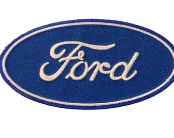 Blue NOS New Vintage Ford Embroidered Patch