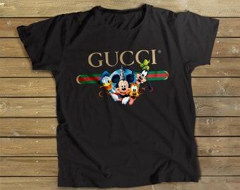 5ac0ab2ef Gucci shirt, Gucci Disney Heroes Shirt, Disney shirt, Mickey Mouse shirt,  Minnie Mouse Shirt, Gucci gift, Hypebeast shirt, Disney Trip shirt