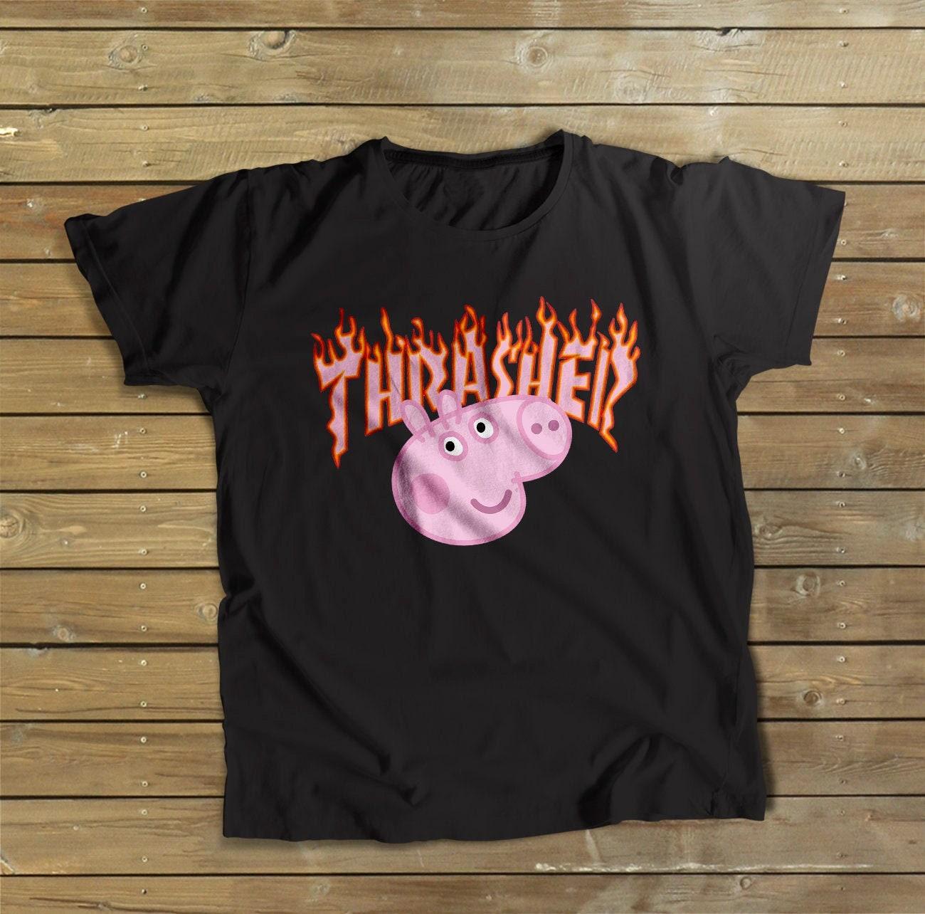 Thrasher Peppa Pig Shirt Gucci Shirt Peppa Pig Shirt Gucci Tshirt Gucci Gift Hypebeast Shirt Birthday Gift Men S Women S Gucci Shirt