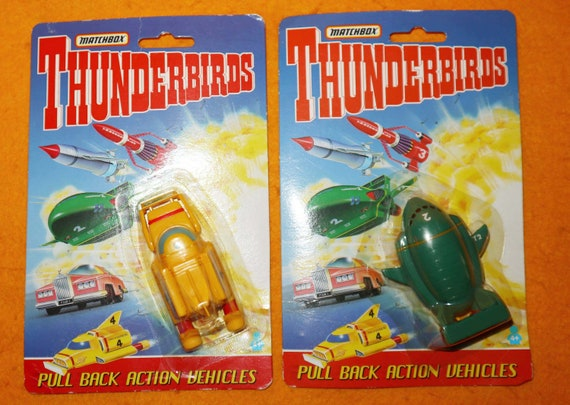 FAB 1 CARDED DIE CAST MODEL MADE BY MATCHBOX IN 1992 THUNDERBIRDS