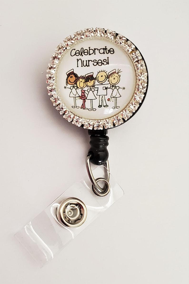 Staff ID Nurses Badge Reel Littmann Stethoscope Tag Lanyard Badge Reel Nurse Stethoscope ID Retractable ID Badge