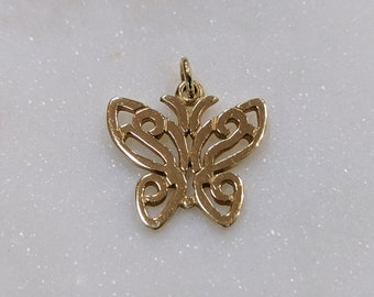 61635ef0d James Avery 14k yellow gold lace wing butterfly charm rare and retired