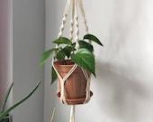 Handmade Macrame Plant Hanger and Plant Holder -ESME- 1M Length, 15cm Pot Size