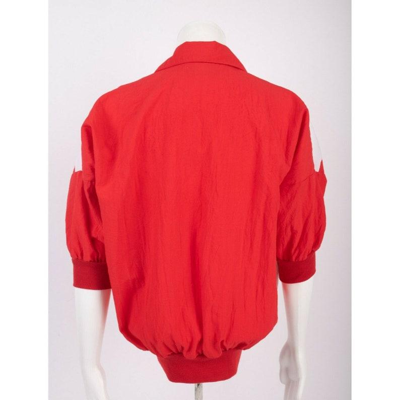 Vintage 80/'s Cortiva Lightweight Batwing Windbreaker M Sailor Style Nautical Red