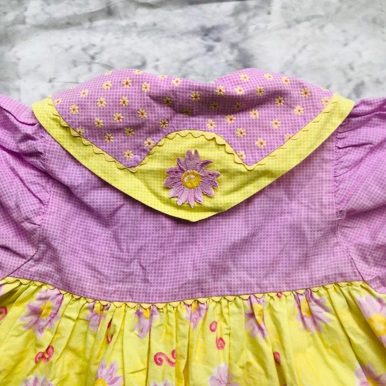 vintage mädchen 12-18 monate babykleid 1990er jahre