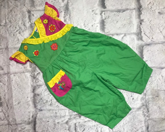 Vintage Disney Tigger playsuit 6-9 months 9-12 boy girl 1990s shortie summer retro bright yellow