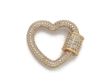 E302 10 Heart Gold Plated and Black Enamel Tiny and Colorful