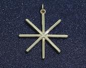 Mini Star Charm Gold Stick Star Charm Celestial Jewelry Star Key Charm Dainty Small Charm