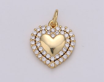 24k Gold Filled Cubic Angel wing heart charms Gold Star Charm Celestial Jewelry Making Supply