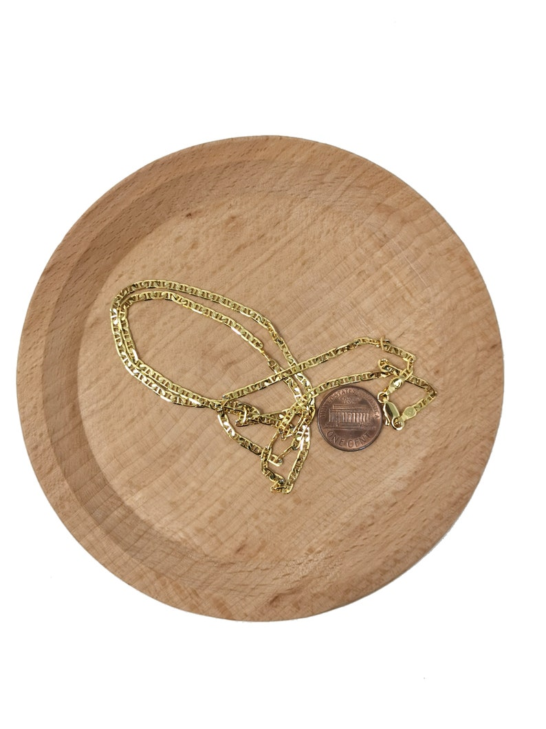 For Pendant Charm Necklace Making,399 1pc 23.5/'/' Ready to Use 24K Gold Filled Anchor Necklace Chain Layering Anchor Chain Dainty Necklace