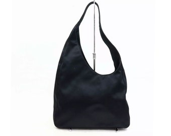 4b56c60d2fd9 Authentic Prada Vintage Shoulder Bag Black