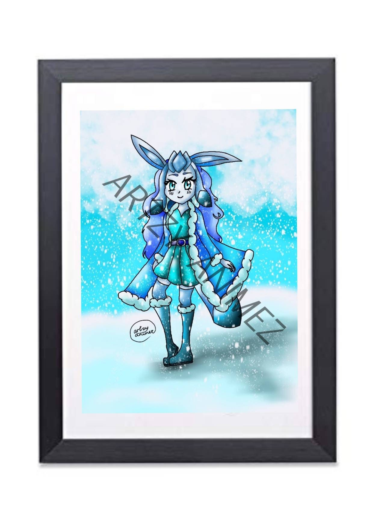 Pokemon Glaceon Purse//wallet//anime//manga//cosplay//UK seller