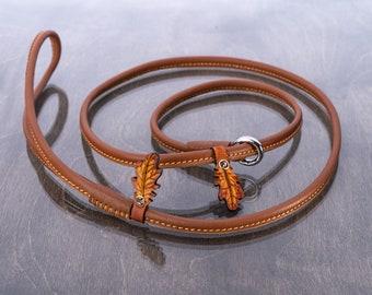 Dog Show Slip Lead Round Leather