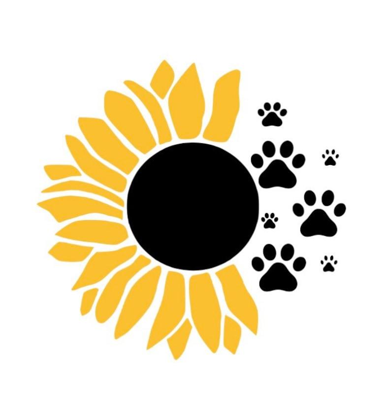 Download Sunflower Dog Print SVG Puppy SVG Doggie Image Cutting | Etsy