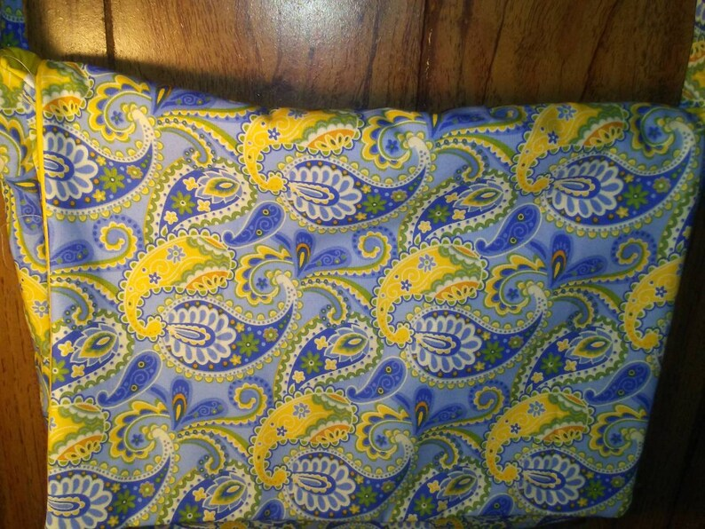 School Bag Yellow Polka Dots Messenger Bag Blue Flowers crossbody Casual bag