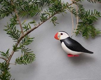 Felted Atlantic Puffin Tree Ornament Ocean Bird Souvenir