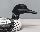 Loon Straight - 13 quot l - Medium - Hand Carved Wooden Bird