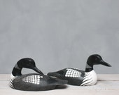 Loon Pair - Large - Hand Carved Wooden Bird