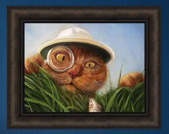 SOUR MILK by Lucia Heffernan 16x16 FRAMED PRINT Missing Cat Carton Funny Face