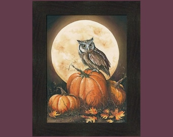 In The Pumpkin Patch by John Rossini 16x20 Halloween Pumpkins Spooky Framed Art Print Picture