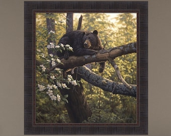 Longing For Apples by Greg Alexander 27x29 Black Bear Bears Apple Tree Wildlife Framed Art Print Picture