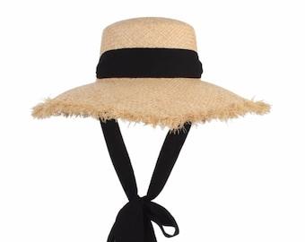 4dd16624 CALLIOPE Handmade Raffia Sun Hat | Wide Brim Straw Hat For Women | Floppy Sun  Hat | Beach Hat