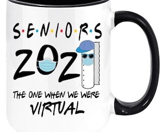 Tikitoic. Seniors The One Where They Get Quarantined Classic Mug Unique Gift Ideas For Her From Daughter Or Son Cool Novelty Cups 11 Oz