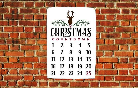 Christmas Countdown Calendar 3X5 ft banner Christmas Home