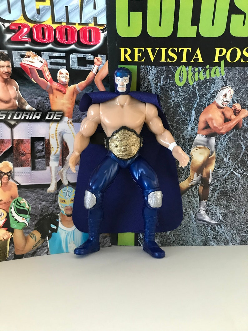 Lucha libre toys wrestling action figures lucha mask toy blue demon mask