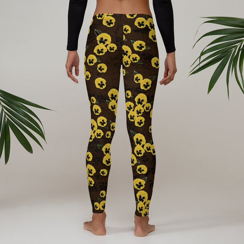 Hanson MMMBop Inspired Leggings Yellow Pansy