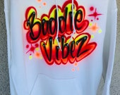 Custom Airbrush Name Hoodie Sweatpants Personalized Airbrush Outfit Face Mask