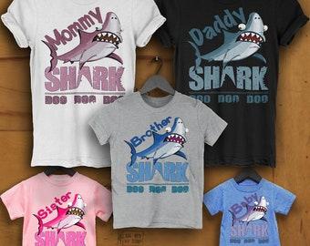 78b1cf400 Shark Family shirts Baby shark shirt doo doo, Mommy shark shirt Daddy shark  shirt Mama shark shirt, Matching shirts Matching Mommy Me Shirts