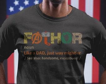 7da5dd267 Fathor Shirt Father shirt Fa Thor shirt, Fathers day shirt Father t shirt,  Marvel dad shirt fa-thor shirt Dad super hero, Avengers Endgame