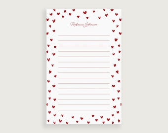 Happy Anniversary Note Pad  Lined Notepad  To Do List  Banner  Colorful  Couple  Hearts  Red  Fun  Desk Accessory  Gift  Cute!!!